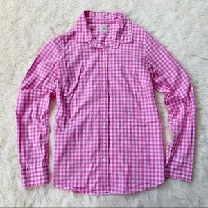 J. Crew • the perfect shirt gingham print
